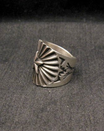 Image 2 of Old Pawn Style Navajo Sterling Silver Ring Sz6-1/2, Derrick Gordon