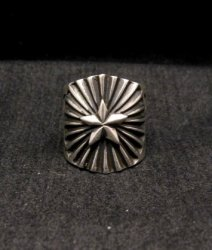 Old Pawn Style Navajo Sterling Silver Ring Sz6-1/2, Derrick Gordon