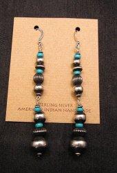 Marilyn Platero Sterling Silver Navajo Pearl Dangle Earrings