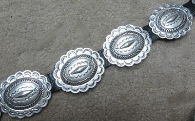 Image 2 of Dead Pawn Sterling Silver Concho Belt