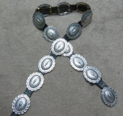 Dead Pawn Sterling Silver Concho Belt