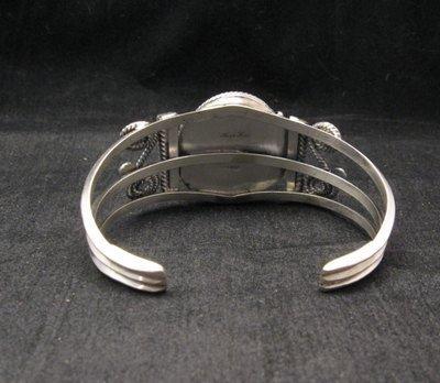 Image 3 of Navajo Native American Charoite Sterling Silver Bracelet, Gilbert Tom