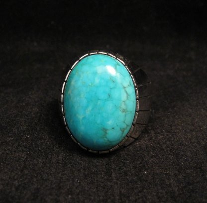 Image 4 of Ray Jack Navajo Turquoise Sterling Silver Ring Sz10-1/2