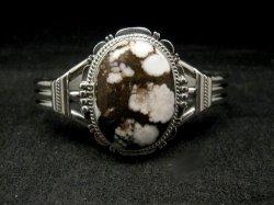 Navajo Native American Wild Horse Sterling Silver Pendant, Lyle Piaso