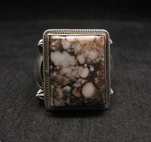 Image 0 of Navajo Native American Wild Horse Sterling Silver Ring sz12-3/4, Aaron Toadlena