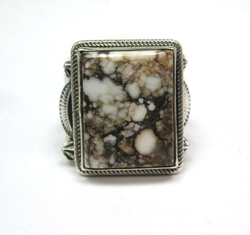 Image 1 of Navajo Native American Wild Horse Sterling Silver Ring sz12-3/4, Aaron Toadlena