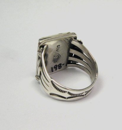 Image 4 of Navajo Native American Wild Horse Sterling Silver Ring sz12-3/4, Aaron Toadlena