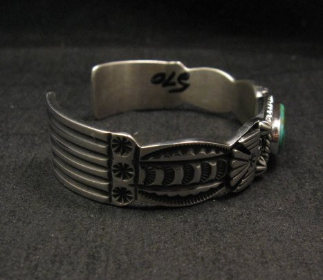 Image 4 of Andy Cadman Navajo Pawn Style Royston Turquoise Silver Thunderbird Bracelet