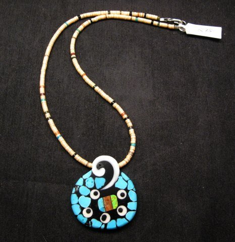 Image 0 of Santo Domingo Mosaic Inlaid Necklace by Mary Tafoya