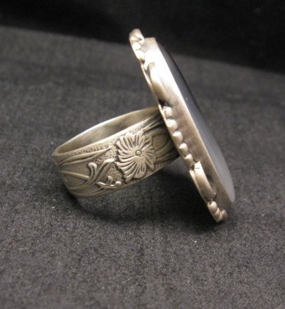 Image 1 of Native American Navajo Montana Agate Sterling Silver Ring sz6-1/2 - 7-1/2