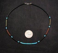 James & Doris Coriz Santo Domingo Multigem Fine Heishi 17-inch Necklace