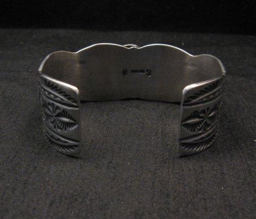 Image 5 of Navajo Native American Kingman Turquoise Silver Bracelet, Guy Hoskie
