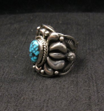 Image 1 of Native American Darryl Becenti Turquoise Silver Ring sz8-1/2