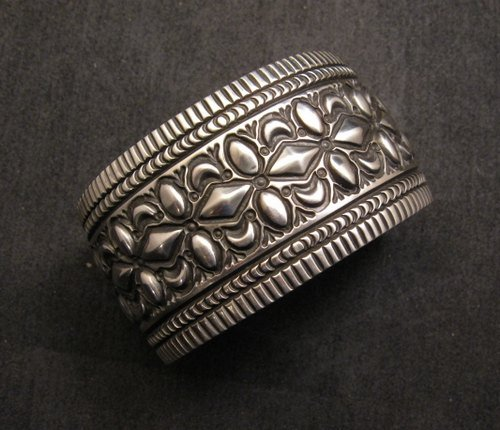 Image 0 of Navajo Native American Stamped Sterling Silver Bracelet, Darryl Becenti