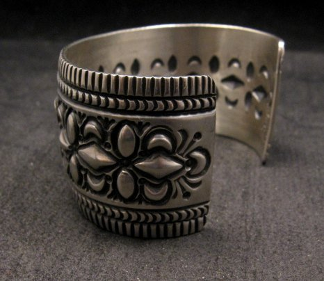 Image 6 of Navajo Native American Stamped Sterling Silver Bracelet, Darryl Becenti