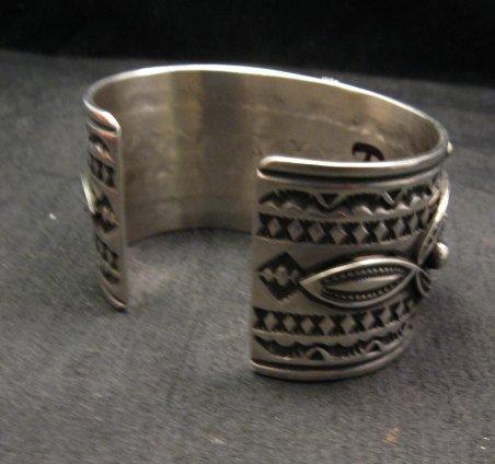 Image 6 of Albert Jake Navajo Royston Turquoise Silver Cuff Bracelet