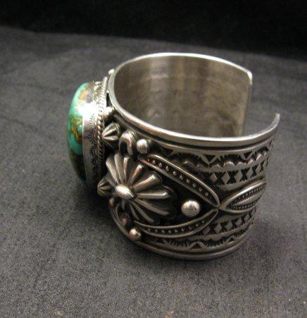 Image 3 of Albert Jake Navajo Indian Royston Turquoise Silver Cuff Bracelet