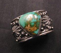 Albert Jake Navajo Indian Royston Turquoise Silver Cuff Bracelet