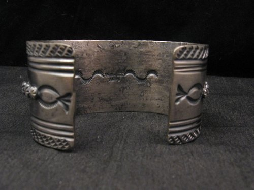 Image 5 of Navajo Native American Kingman Web Turquoise Bracelet, Gilbert Tom