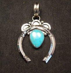 Native American Naja Pendant Turquoise Silver Navajo, Everett & Mary Teller