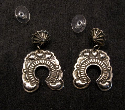 Image 0 of Native American Darryl Becenti Navajo Naja Sterling Silver Earrings