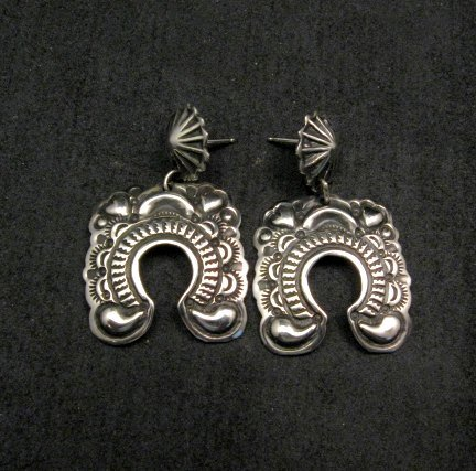 Image 1 of Navajo Revival Style Naja Sterling Silver Earrings, Darryl Becenti