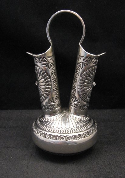 Image 2 of Sunshine Reeves Navajo Native American Silver Wedding Vase