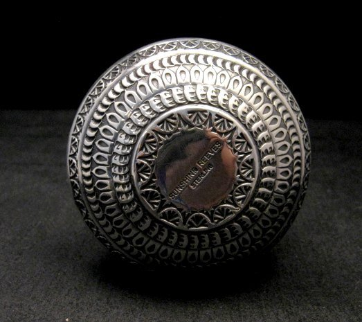 Image 4 of Sunshine Reeves Navajo Native American Silver Wedding Vase
