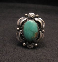 Navajo Native American Royston Turquoise Ring sz7, Gilbert Tom