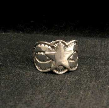 Image 0 of Sunshine Reeves ~ Navajo ~ Stamped Sterling Silver Star Ring sz9