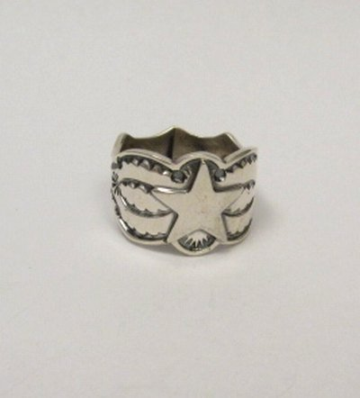 Image 5 of Sunshine Reeves ~ Navajo ~ Stamped Sterling Silver Star Ring sz9