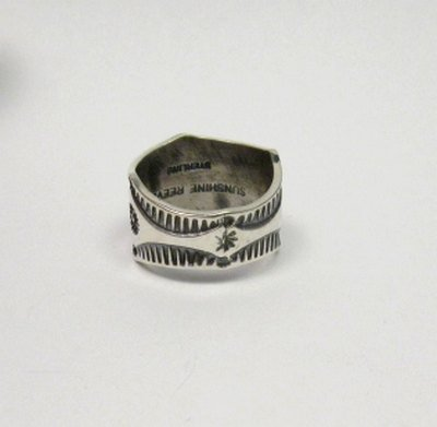 Image 2 of Sunshine Reeves Navajo Native American Sterling Silver Star Ring sz8-1/2