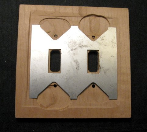 Image 1 of Navajo Sandpainted Double Toggle Switchplate Cover Plate