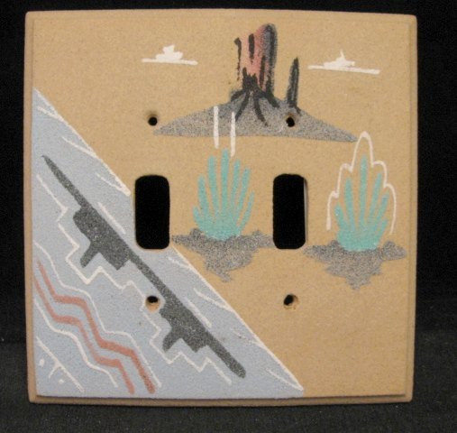 Image 0 of Navajo Sandpainted Double Toggle Switchplate Cover Plate