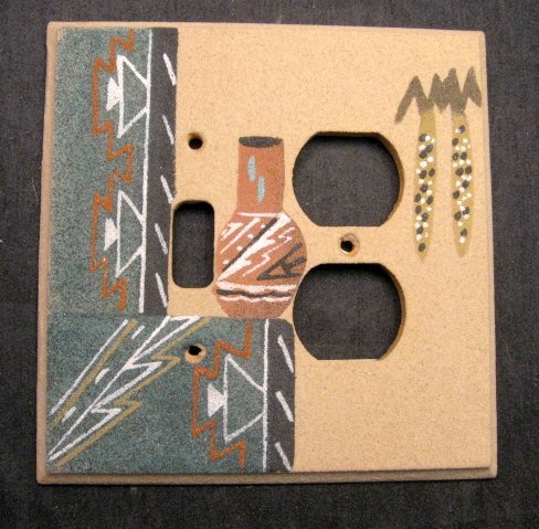 Image 0 of Navajo Sandpainted One Toggle One Duplex Switchplate/Outlet Cover