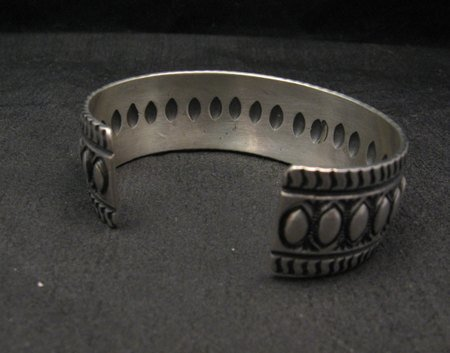 Image 5 of Darryl Becenti Navajo Native American Repousse Sterling Silver Cuff Bracelet
