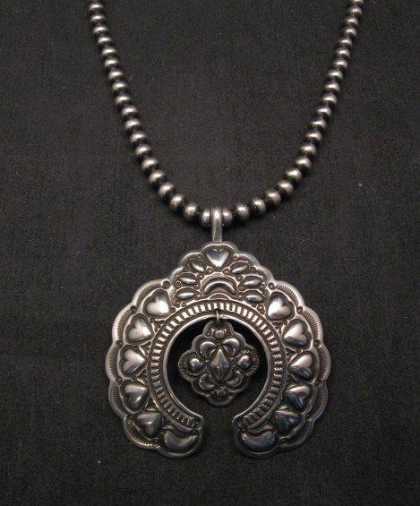 Image 1 of Large Navajo Native American Silver Naja Pendant, Darryl Becenti