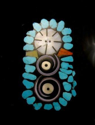 Image 2 of Contemporary Santo Domingo Kewa Mosaic Inlay Pin/Pendant, Mary Tafoya