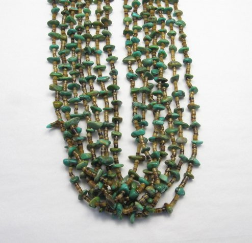 Image 4 of Dead Pawn Native American 7-strand Turquoise Nugget Necklace