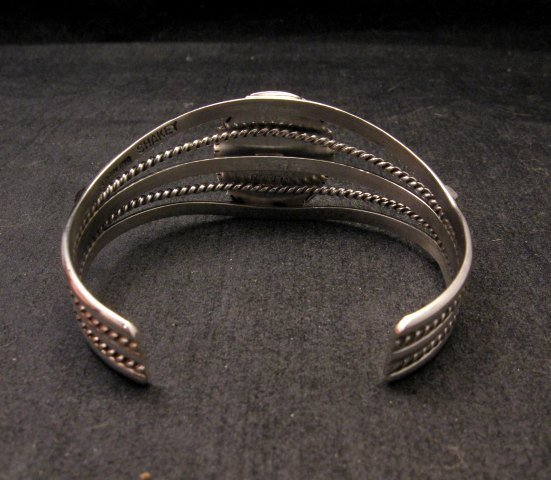 Image 3 of Navajo Native American Kingman Web Turquoise Silver Bracelet, Robert Shakey