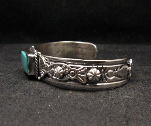 Image 2 of Navajo Native American Royston Turquoise Silver Bracelet, Gilbert Tom