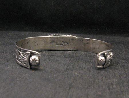 Image 5 of Navajo Native American Royston Turquoise Silver Bracelet, Gilbert Tom