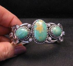 Gilbert Tom Navajo Native American Royston Turquoise Silver Bracelet