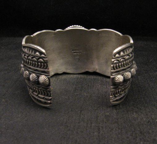Image 6 of Navajo Michael & Rose Calladitto Sleeping Beauty Turquoise Silver Cuff Bracelet