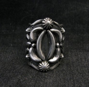 Image 0 of Darryl Becenti Navajo Native American Sterling Silver Ring sz7-1/2