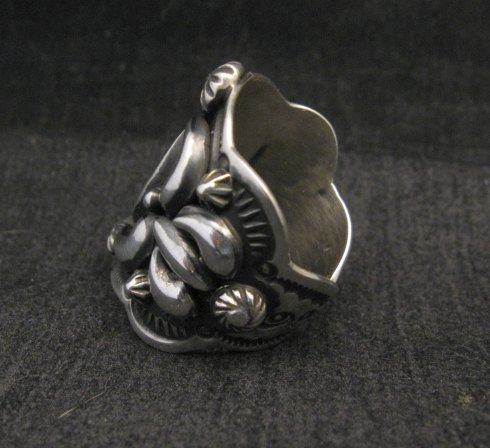 Image 2 of Darryl Becenti Navajo Native American Sterling Silver Ring sz7-1/2