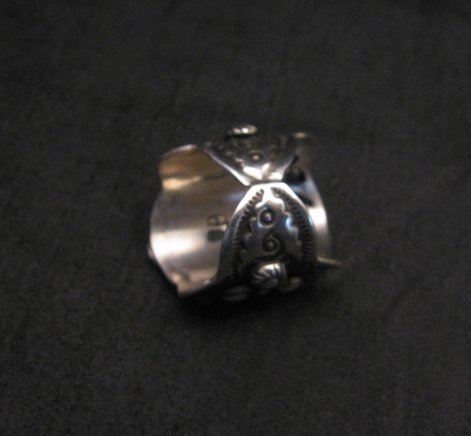 Image 3 of Darryl Becenti Navajo Native American Sterling Silver Ring sz7-1/2