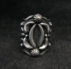 Darryl Becenti Navajo Native American Sterling Silver Ring sz7-1/2