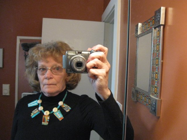 Image 7 of Fabulous Santo Domingo Mosaic Inlay Turquoise Bead Necklace, Mary Tafoya