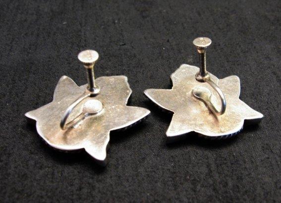 Image 3 of Vintage Zuni Multi Inlay Knifewing Earrings, screwback